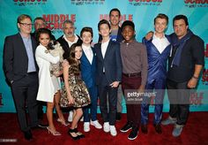 Andy Daly, Bill Robinson, Isabela Moner, Louie, Steve Carr, Alexa Nisenson, Thomas Barbusca, Griffin Gluck, Rob Riggle, Luke Hardeman, Jacob Hopkins and Leopoldo Gout attend the Los Angeles red carpet screening of 'Middle School: The Worst Years Of My Life' at TCL Chinese Theatre on October 5, 2016 in Hollywood, California.