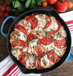 Perfect as a main dish or a side, this scrumptious quinoa Caprese bake is filled with fluffy grains and succulent tomatoes, then topped with basil and mozzarella.