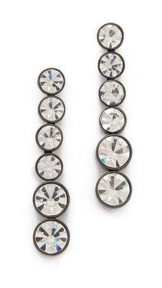 robert rodriguez graduated crystal drop earrings / shopbop.com