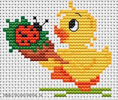 Cross Stitch Beginner, Tiny Cross Stitch, Cat Cross Stitches, Xmas Cross Stitch, Cross Stitch Embroidery, Cross Stitch Patterns, Crochet Summer Hats, Easter Crafts, Knitting