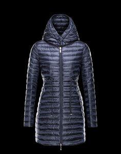 Moncler Barbel Women Lightweight Hooded Down Parka Outerwear Navy On Sale 18b9b256f4a