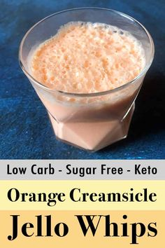 This recipe for Low Carb and Keto Orange Creamsicle Jello Whips is a creamy, fruity treat with only 4g net carbs. It's a quick, 3 ingredient dessert, that could not be any easier to make.