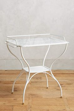 Marble-Topped Bar Table - anthropologie.com