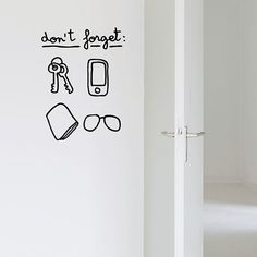Forget Wall Sticker by Chispum  designed in Spain #MONOQI