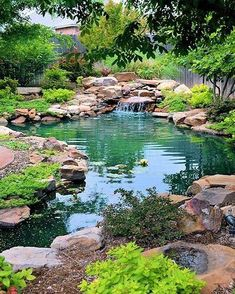60 awesome backyard ponds and water garden landscaping ideas water garden or backyard pond pond building instructions Backyard Water Feature, Ponds Backyard, Steep Backyard, Garden Ponds, Pond Design, Landscape Design, Landscape Bricks, Landscape Steps, Lawn Repair