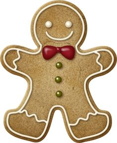Gingerbread Man clipart. Make a garland from it or enlarge it to for your cookie decoration stall.
