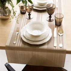 SOLID BROWN TABLE RUNNER - Table Runners - Tableware   Zara Home Turkey