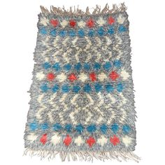 Vintage Swedish Rya Rug | From a unique collection of antique and modern russian and scandinavian rugs at https://www.1stdibs.com/furniture/rugs-carpets/russian-scandinavian-rugs/