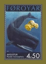 Sperm Whale stamp with ambergris pic