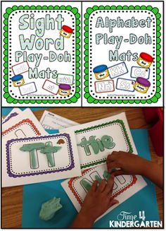 sight word work, play-doh sight word, play-doh letters