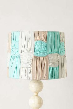 Anthropologie - Ruched Colorblock Lampshade