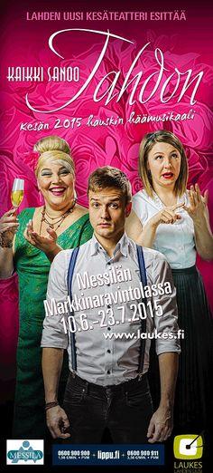 Lahden Uuden Kesäteatterin KAIKKI SANOO TAHDON – musikaalikomedia kutsuu kesän hauskimpiin häihin!