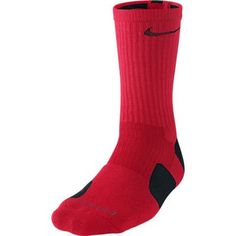 new styles c4358 2c707 Nike Dri-Fit Elite Basketball Socks (X-Large, UNIVERSITY RED BLACK  BLACK)