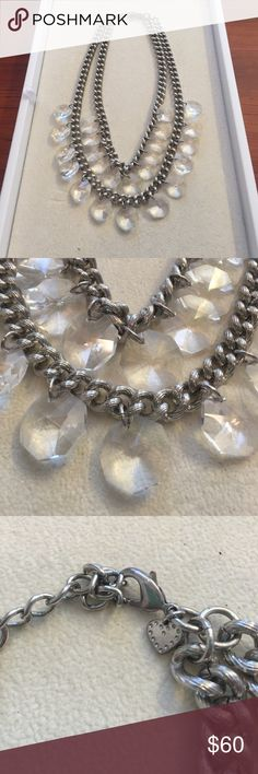 Silver Lucite Statement Necklace Retired piece, great condition. Stella & Dot Jewelry Necklaces