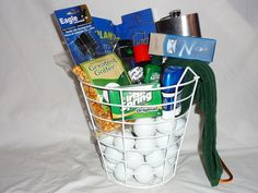 Golf gift basket with certificate to 18 holes boys pinterest image detail for the slice golf gift basket negle Choice Image