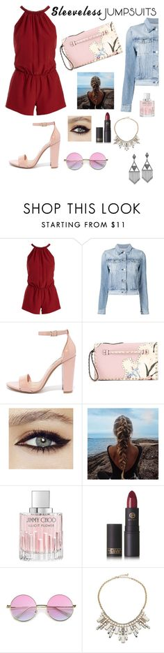 """❤️❤️❤️"" by juliakhylko ❤ liked on Polyvore featuring Joie, 3x1, Steve Madden, Valentino, Jimmy Choo, Lipstick Queen, ABS by Allen Schwartz, House of Harlow 1960 and sleevelessjumpsuits"