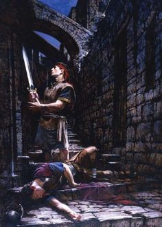 Nephi & Laban By: Walter Rane -one of my very favorite of religious artists.