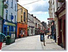 One of the little side streets in Galway. The cobblestone pedestrian area was giant. Loved it:)