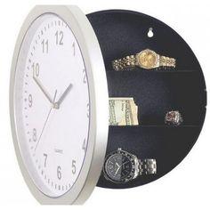 Safe O' Clock Caja de seguridad escondida, aunque vean detrás de tus cuadros de pintura no encontrar nada, ya que el compartimiento está detrás de tu reloj de pared.