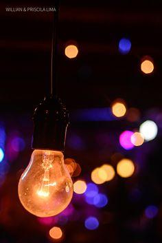 Idéia Criativa para Decorar Casamentos com Luzes - Luzinhas