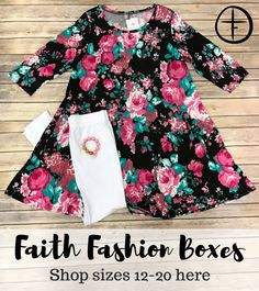 One Faith Boutique, Trendy Clothes For Women, Fashion Boutique, Size 12, Boxes, Fashion Outfits, Stylish, Shopping, Dresses