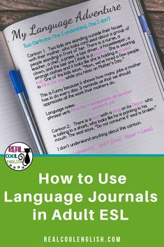 Using Language Journals with Adult ESL Students Advanced ESL students often feel they are not progr Writing Resources, Writing Activities, Writing Skills, Teacher Resources, Grammar Activities, Teacher Blogs, Classroom Resources, Free English Lessons, English Lesson Plans