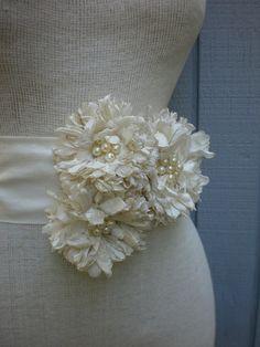custom order Handmade Bridal Sash With three Unique by deniz03, $75.00
