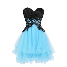 Ellames Sweetheart Bridesmaid Short Prom Homecoming Party Dresses For... ($50) ❤ liked on Polyvore featuring dresses