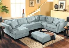 Cindy Crawford Home   Metropolis Hydra Left   4 Pc Sectional Living Room