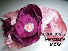 Como hacer Flores en Tela en Tocado/ How to Make Easy Flower Fabric/ Hair Accesori Clip Girl/DIY - YouTube