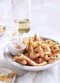 Crispy Prawns with Lemon Chili Salt