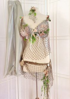 Custom Made Mermaid Outfit All Natural Decor Bra by LoLoandRubys