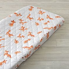 Shop Fox Changing Pad Cover.  Don't go changing for us.  But if you do, you'll definitely want to check out our exclusive fox changing pad covers.  They come in a host of appealing, easy to coordinate colors.  And are easy to clean.