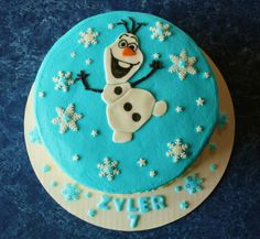 Frozen theme Olaf cake
