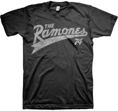 Ramones Shirt - Vintage style official 74 tee.- love - http://www.band-tees.com/store/R_00700_133!BRVDO/Ramones+Team+Ramones+%2774+T-shirt