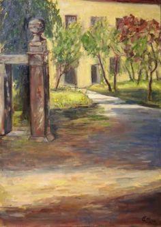 Original Landscape Painting by Ellen Fasthuber-huemer Oil On Canvas, Canvas Art, Original Paintings, Original Art, Artwork Online, Castle Painting, Garden Painting, Buy Art, Saatchi Art