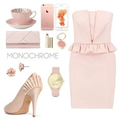 """""""Tea Time"""" by nina-ann on Polyvore featuring Royal Albert, RED Valentino, Charlotte Olympia, Michael Kors, Nine West, 1928, Stila and Jane Iredale"""
