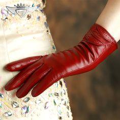 >> Click to Buy << KLSS Brand Genuine Leather Women Gloves High Quality Goatskin Gloves Winter Plus Velvet Fashion Trend Lady Sheepskin Glove 35 #Affiliate