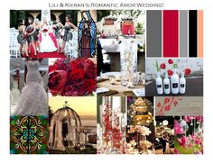 Silver, gray, red and black with a touch of coral inspiration board … beach romance
