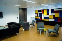 Zona de descanso. CINC, Centro de negocios en Barcelona.