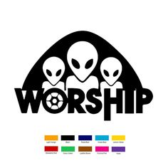 Wholesale 10 pcs/lot 16cm x 8cm Alien Worship Car Sticker For Truck Window Bumper Auto SUV Door Laptop Kayak Vinyl Decal 9