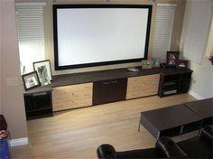 Modern Home Entertainment Center  Learn more: http://www.closetfactory.com/