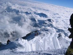 Approaching summit of Mount Everest