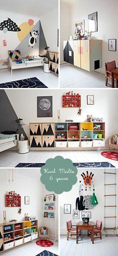my room: karl malte | scandinavian boys bedroom | white floorboards and customised furniture