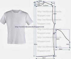 Moldes Moda por Medida: T-SHIRT BÁSICA VÁRIOS TAMANHOS