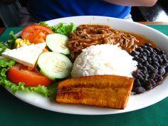 Casado - traditional dish of Costa Rica