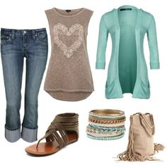 Spring Teal, created by melly1376 on Polyvore