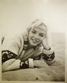 Marilyn Monroe at Santa Monica Beach, California. Photograph by George Barris, July 1962.