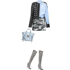 """""""Patterns with Blue"""" by yasminasdream on Polyvore"""