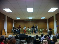 Alumnes de 2n de Conjunt Instrumental de la professora Isabel García (21-3-2013).